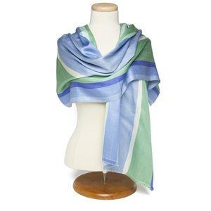 "hand-loomed silk shawl - "" Irises"" - Van Gogh"